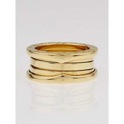 Bvlgari 18k Yellow Gold B.Zero1 3-Band Ring Size 5/49