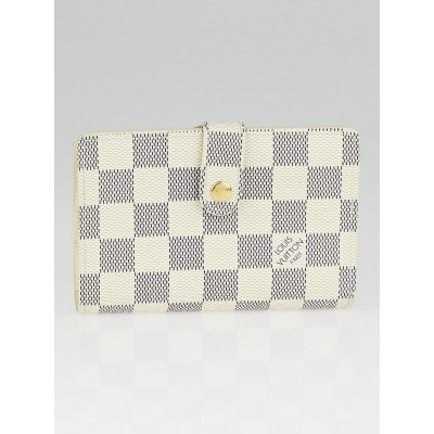 Louis Vuitton Damier Azur Canvas Port Feuille Vienoise French Purse Wallet