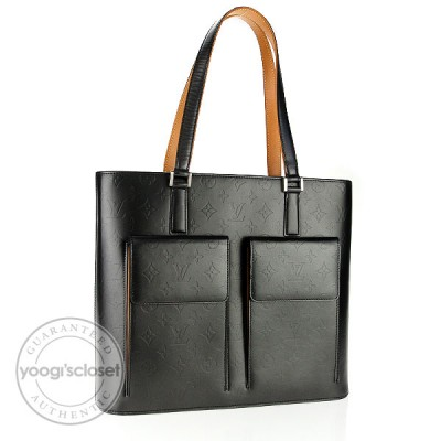 Louis Vuitton Black Monogram Mat Willwood Bag