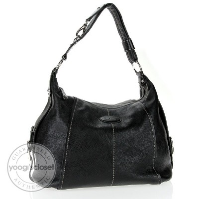Tod's Black Leather G-Bag Sacca Tacolla Bag