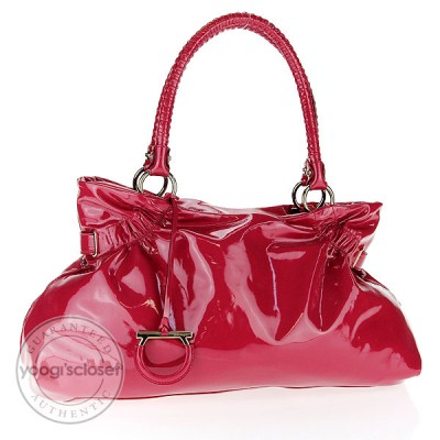 Salvatore Ferragamo Fresia Patent Leather Ava Bag