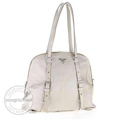 Prada Alluminio Leather New Look Tote Bag