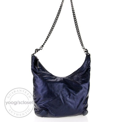 Gucci Darwin Metallic Galaxy Slouchy  Leather Hobo Bag