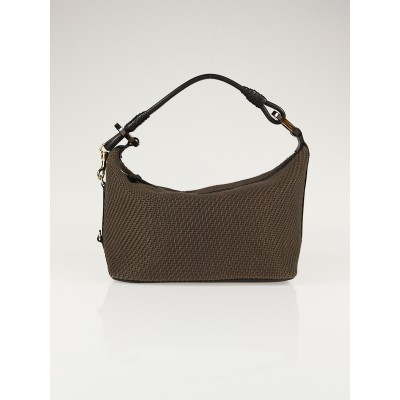 Bottega Veneta Brown Woven Fabric Small Shoulder Bag