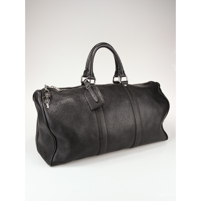 Louis Vuitton Limited Edition Black Tobago Leather Keepall 50 Bag