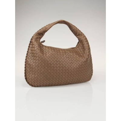 Bottega Veneta Toffee Medium Veneta Woven Hobo Bag