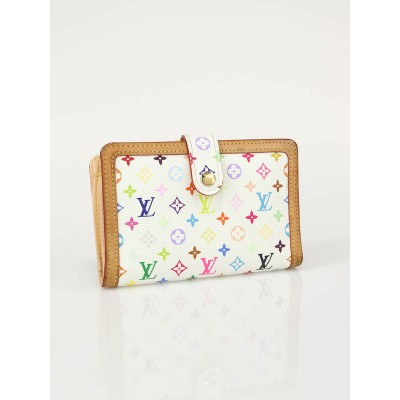 Louis Vuitton White Multicolore Monogram French Purse Wallet