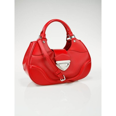 Louis Vuitton Red Epi Leather Montaigne Sac Bag