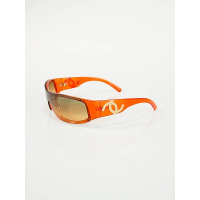 Chanel Gradient Lens Orange Frame Sunglasses 5072