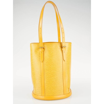 Louis Vuitton Tassil Yellow Epi Leather Made to Order Large Bucket Bag
