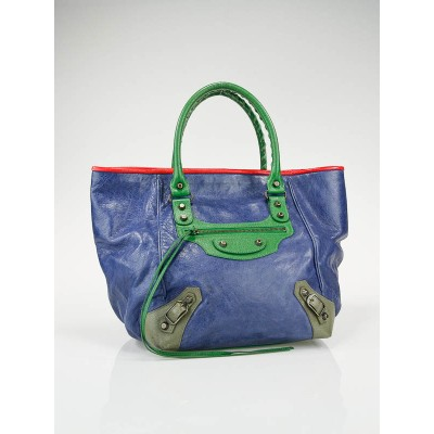 Balenciaga Holiday Pattern Lamsbkin Leather Classic Sunday Tote Bag