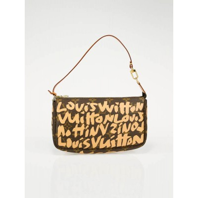 Louis Vuitton Limited Edition Beige Stephen Sprouse Graffiti Pochette Bag