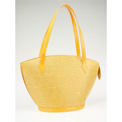 Louis Vuitton Yellow Epi Leather Saint Jacques GM Shopping Tote Bag