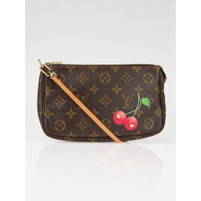 Louis Vuitton Limited Edition Cerises Monogram Pochette Bag