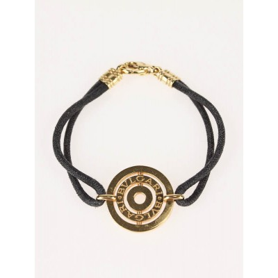 Bvlgari 18k Gold and Cotton Cord Astrale IT Bracelet