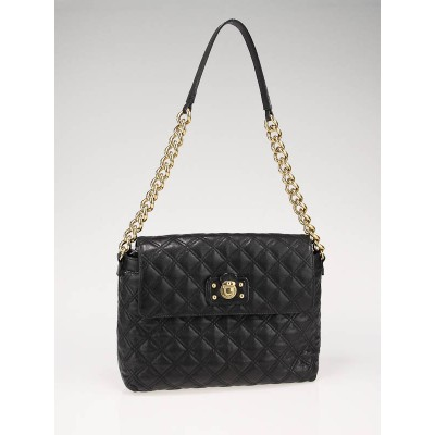Marc Jacobs Black Quilted Leather XL Single Bag
