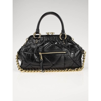 Marc Jacobs Black Leather Patchwork Stam Bag