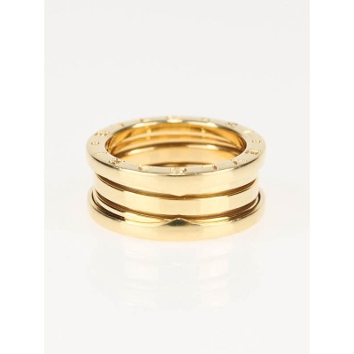 Bvlgari B.Zero1 18K Gold  3-Band Ring Size 6.5