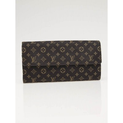 Louis Vuitton Ebene Monogram Mini Lin Sarah Wallet
