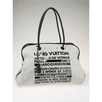 Louis Vuitton Limited Edition Black Canvas Articles de Voyage Malles Tote Bag