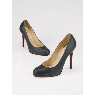 Christian Louboutin Grey Nappa Leather New Simple 120 Pumps Size 6