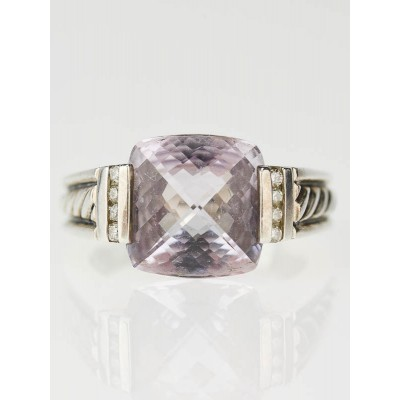 David Yurman Sterling Silver and Lavender Amethyst Ring Size 7.5