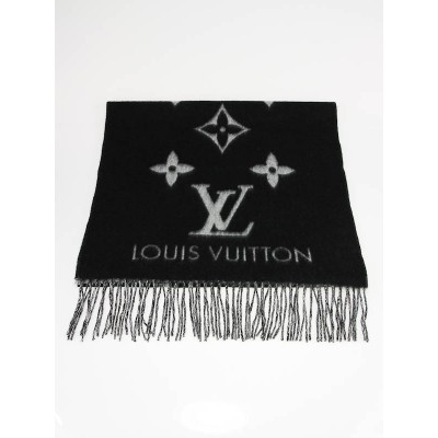 Louis Vuitton Black/Grey Cashmere Reykjavik Shawl