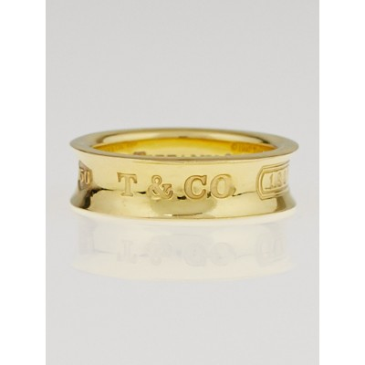 Tiffany & Co. 18k Gold '1837'  Ring Size 8
