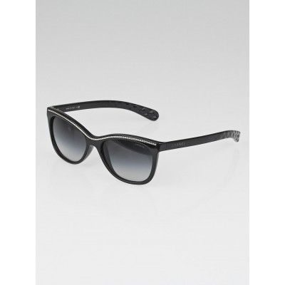 Chanel Black Frame Cat-Eye Chain Polarized Sunglasses-6041