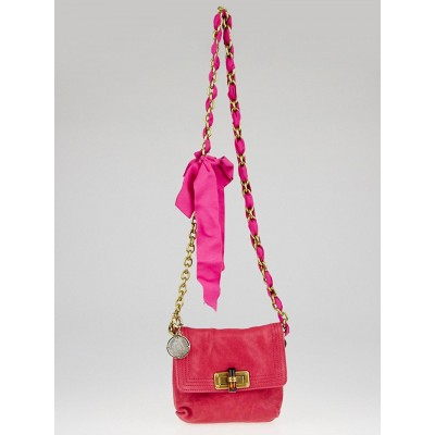 Lanvin Rose Leather and Grosgrain Ribbon Mini Pop Bag