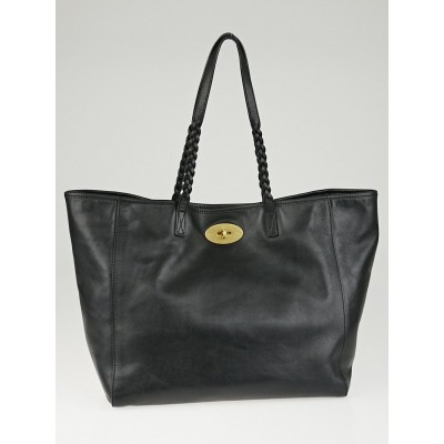 Mulberry Black Leather Large Dorset Tote Bag