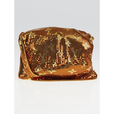 Louis Vuitton Limited Edition Bronze Monogram Mesh Frances Evening Bag