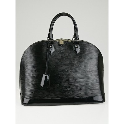 Louis Vuitton Black Electric Epi Leather Alma GM Bag