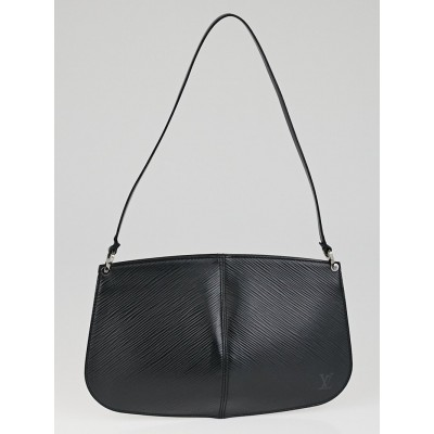 Louis Vuitton Black Epi Leather Demi-Lune Pochette Bag