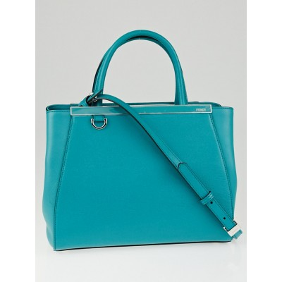 Fendi Lago Vitello Leather Petite Sac 2Jours Elite Tote Bag