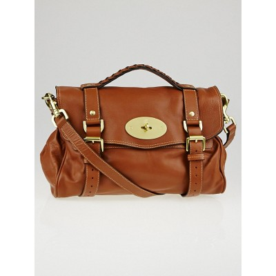 Mulberry Oak Soft Buffalo Leather Alexa Satchel Bag