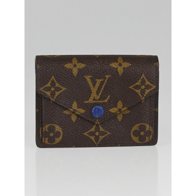Louis Vuitton Monogram Canvas Blue Marie Wallet