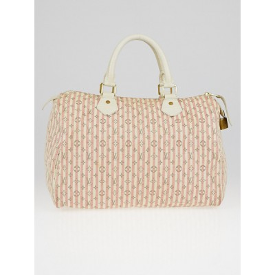 Louis Vuitton Pink/White Monogram Mini Lin Croisette Speedy 30 Bag