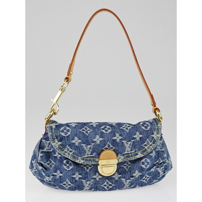 Louis Vuitton Blue Monogram Denim Mini Pleaty Bag