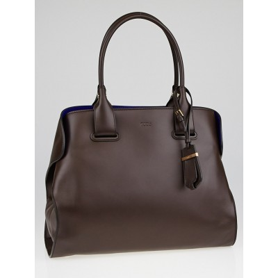 Tod's Brown Smooth Leather Medium Cape Bag
