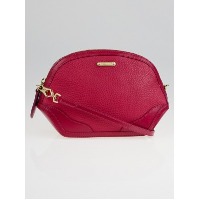 Burberry Bright Rhubarb Pink Grain Leather Extra Small Orchard Pouch Bag