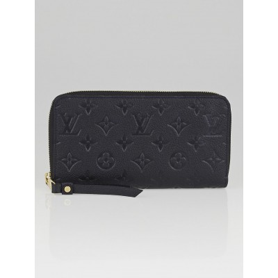Louis Vuitton Bleu Infini Monogram Empreinte Leather Secret Long Wallet