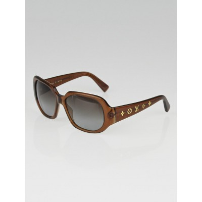 Louis Vuitton Brown Speckling Acetate Frame Obsession GM Sunglasses-Z0029W