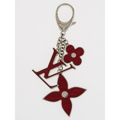 Louis Vuitton Carmine Fleur d'Epi Key Holder and Bag Charm