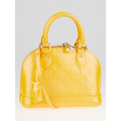 Louis Vuitton Jaune Passion Monogram Vernis Alma BB Bag