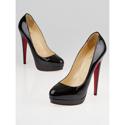 Christian Louboutin Black Patent Leather Alti 140 Pumps Size 6.5/37