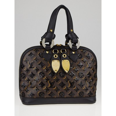 Louis Vuitton Limited Edition Black Monogram Eclipse Alma Bag
