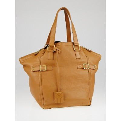 Yves Saint Laurent Brown Chevre Leather Medium Downtown Bag