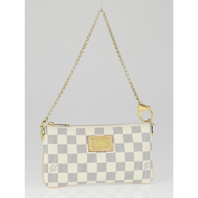 Louis Vuitton Damier Azur Canvas Pochette Milla MM Bag