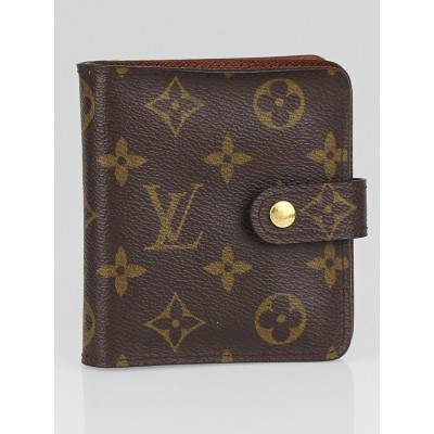 Louis Vuitton Monogram Canvas Zip Compact Wallet